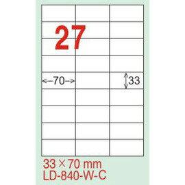 【龍德】LD-840 直角  雷射、影印 標籤-紅銅板 33x70mm 20大張  包
