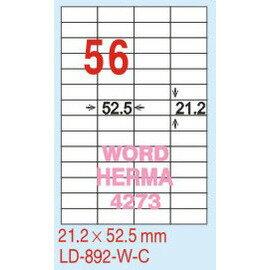 【龍德】LD-892 直角  雷射、影印 標籤-紅銅板 21.2x52.5mm 20大張