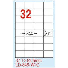 ~龍德~LD~846^(直角^) 雷射、影印 標籤~黃銅板 37.1x52.5mm 20大