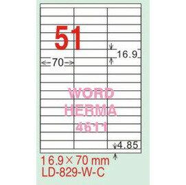~龍德~LD~829 直角  雷射、影印 標籤~雷射透明 可列印  16.9x70mm 1