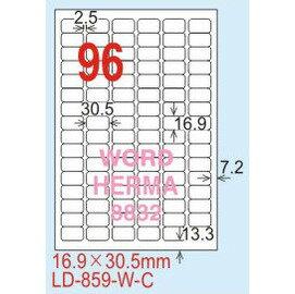 ~龍德~LD~859^(圓角^) 雷射、影印 標籤~雷射透明^(可列印^) 16.9x30