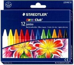 施德樓 MS229NC12 快樂學園加寬型蠟筆十二色組  盒