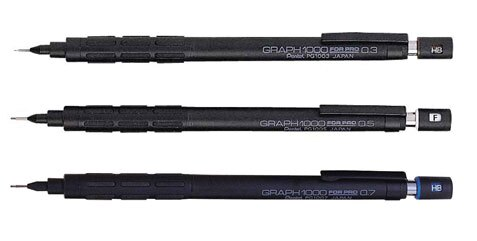 【Pentel飛龍】PG1003/1005/1007    製圖鉛筆