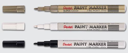 【Pentel飛龍】NSP5-A 黑色 細字油漆筆