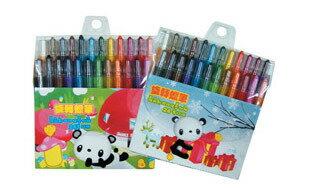 筆樂 Penrote PG1088 BOKI BEAR 24色短桿旋轉蠟筆(款式隨機出貨) / 套