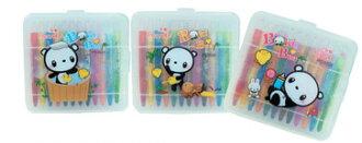 筆樂 Penrote PG9026 BOKI BEAR 12色短桿旋轉蠟筆(款式隨機出貨)-12盒 / 盒