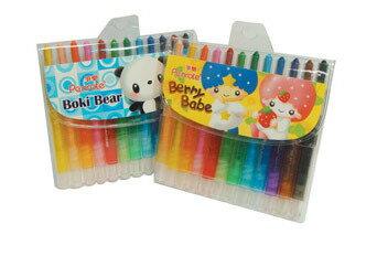 筆樂 Penrote PG9149 12色短桿旋轉蠟筆(款式隨機出貨) / 盒