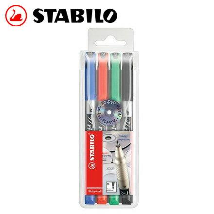 STABILO 德國天鵝 Write~4~all 多用途油性筆1mm^(M^) 4色入