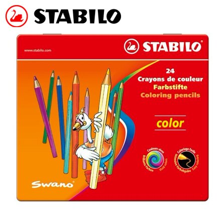 為止 STABILO 德國天鵝 Color 系列六角形色鉛筆^(1824  77^) 24