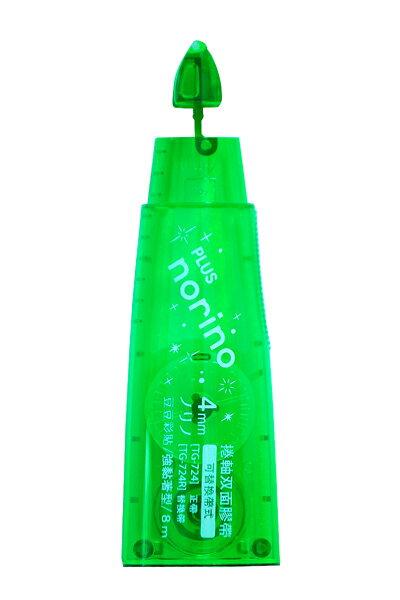 【PLUS】普樂士 norino TG-724R 豆豆彩貼替帶(綠色) / 個