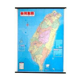 最新台灣行政圖(全開塑膠桿掛圖 )(金時代)