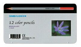 【雄獅】12色塗頭色鉛筆(新鐵盒) #C1200/8-紫