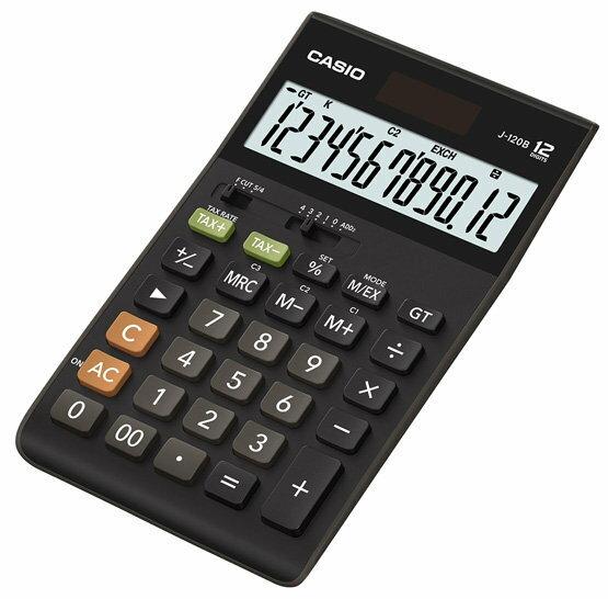 【破盤價】CASIO 卡西歐 J-120B 桌上型12位數商用計算機 / 台