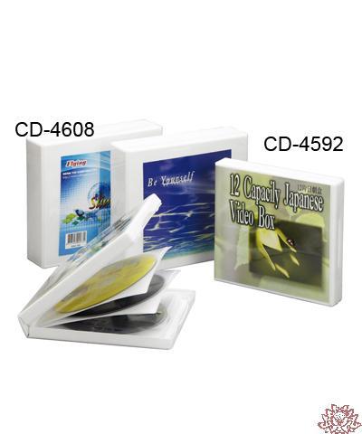 【雙鶖FLYING】CD-4592 12片裝日劇盒 封面有透明封套可放型錄