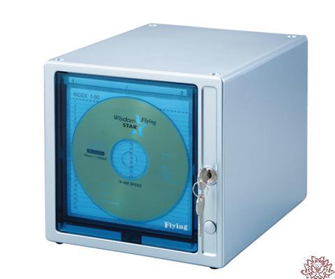 【雙鶖FLYING】CDB-9080觸摸式80片CD珍藏箱(銀)