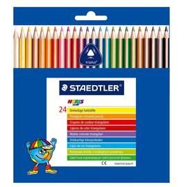 缺貨中 【施德樓】MS127NC24施德樓 快樂學園 三角舒寫油性色鉛筆-標準型24色入/盒
