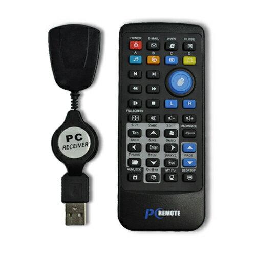非無線藍牙【yardiX PCRM-001無線電腦搖控器 】可作簡報筆 免MP5筆電接液晶電視擴大機可作影音播放器 附滑鼠鍵盤輸入功能