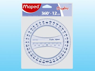 【萬事捷】2168 360 12cm 分度器 (20個/盒)