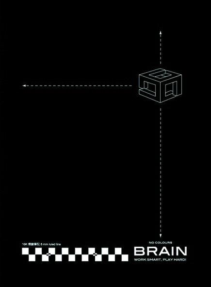 【博崴】文具紙品-無色平裝筆記-A4黑AW-1201/6本裝