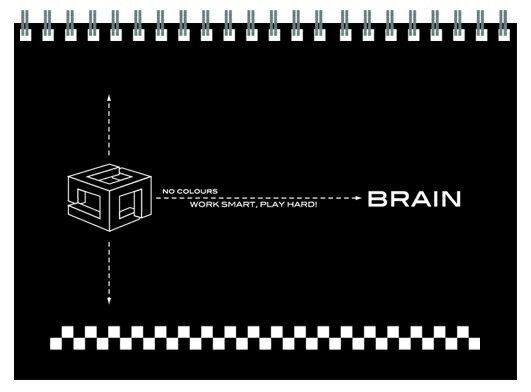 【博崴】文具紙品-無色系列25K素描本-黑AW5025/3本入