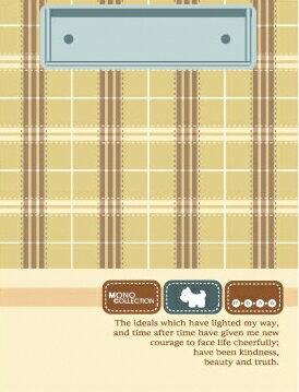 【美加美】文具紙品-MONO 布格紋小便條夾-米 AM2134/個