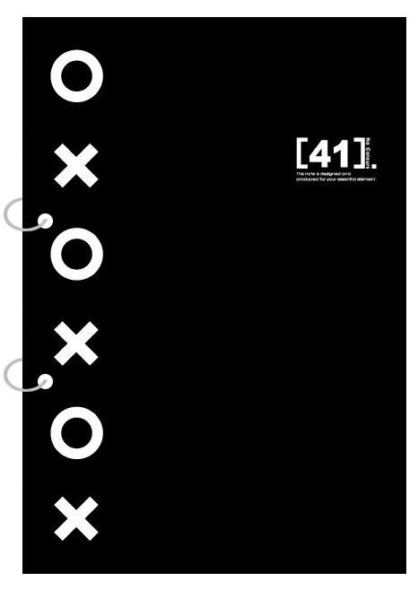 【美加美】文具紙品-數字18K26孔輕便筆記-雙圈黑 AW2025/個