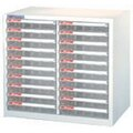 樹德 A4-220P 雙排49cm高 桌上型資料櫃(透明抽)