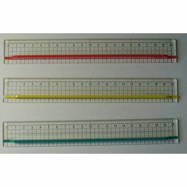 OLFA切割尺CR~20藍、黃、紅