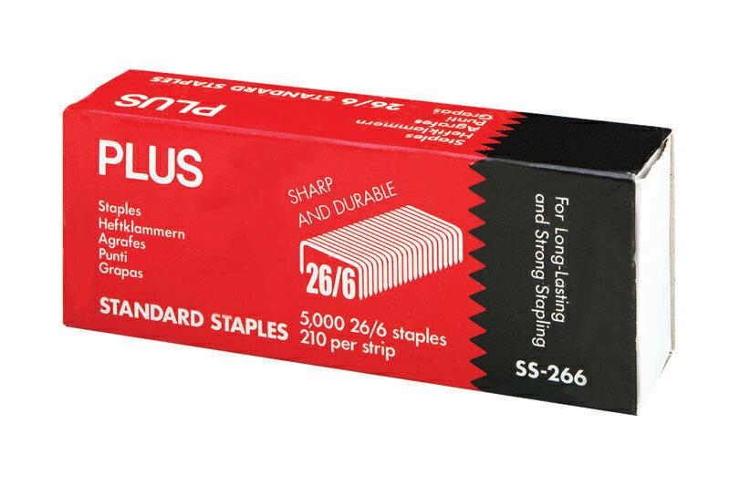 【Plus普樂士】30-088 訂書針 釘書針 5000針入/盒