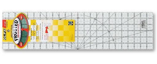 【永昌文具】OLFA英制刻度防滑拼布尺QR-6X24
