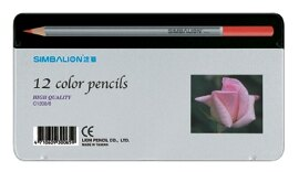 【雄獅】12色塗頭色鉛筆(新鐵盒) #C1200/8-玫瑰