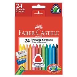 FABER-CASTELL 輝柏 122624 三角擦擦蠟筆24色 / 盒