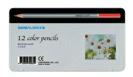【雄獅】12色塗頭色鉛筆(新鐵盒) #C1200/8-白