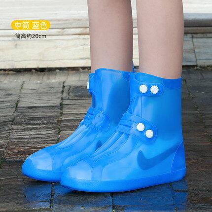 台灣12H現貨 免運! 防水鞋套 雨鞋套 雨天防雨兒童高筒加厚防滑耐磨底矽膠腳套 成人雨鞋  聖誕節禮物
