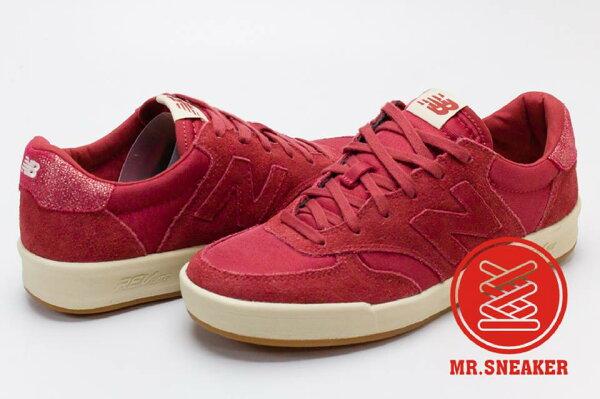 ☆Mr.Sneaker☆NEWBALANCEWRT300麂皮網布REVlite底紅色女款