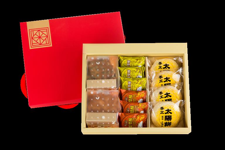 【台中郭記】精選禮盒A款-手工餅乾+鳳梨酥+太陽餅