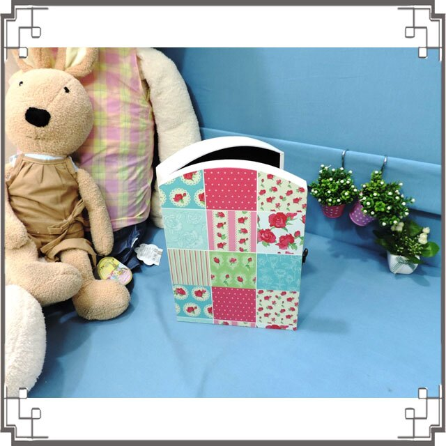 皮革KEY BOX《LK5-2》滿版玫瑰木製皮革鑰匙盒 收納盒 壁櫃 壁飾 鄉村風家飾◤彩虹森林◥