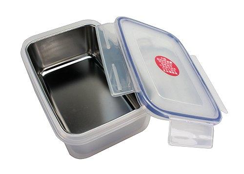 皇家K5003304長方內層不鏽鋼盒(不鏽鋼保鮮盒304保鮮盒便當盒台灣製造隔熱保鮮盒飯盒密封盒)