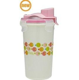 【淘氣寶寶】美國 Innobaby 雙層不鏽鋼吸管學習水杯 不銹鋼水杯 12oz 360ml 粉色小魚【保證公司貨●非水貨】