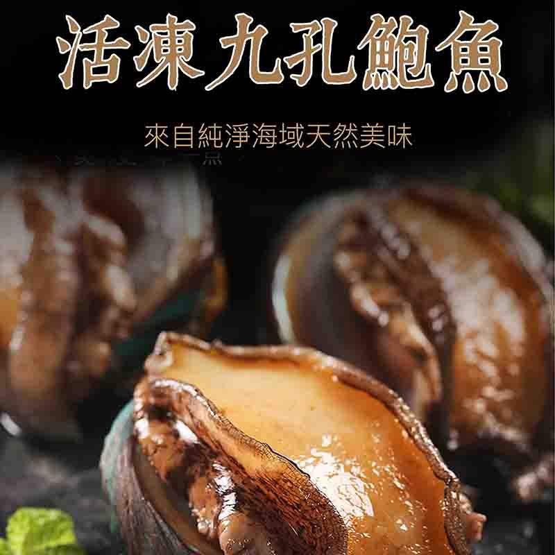 ★祥鈺水產★ 活凍九孔鮑魚 1000g重 約20顆