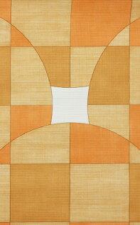 壁紙屋本舖:橙色幾何學壁紙復古壁紙WD42