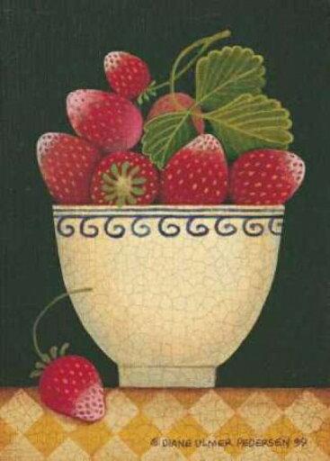 Cup O Strawberries Poster Print by Diane Pedersen (10 x 14) 07e5f1d10ecf9a7e017df8bc0989f648