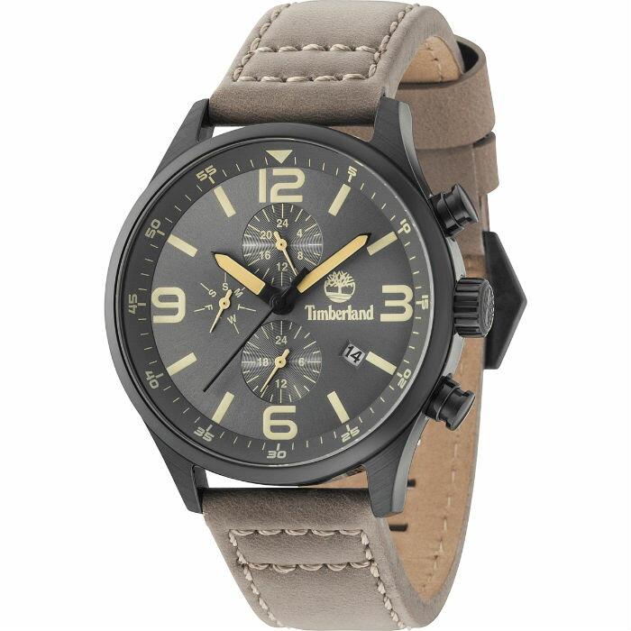 Timberland 天柏嵐 TBL.15266JSB / 79 美式風格嘻哈時尚腕錶 / 灰銅面 45mm - 限時優惠好康折扣