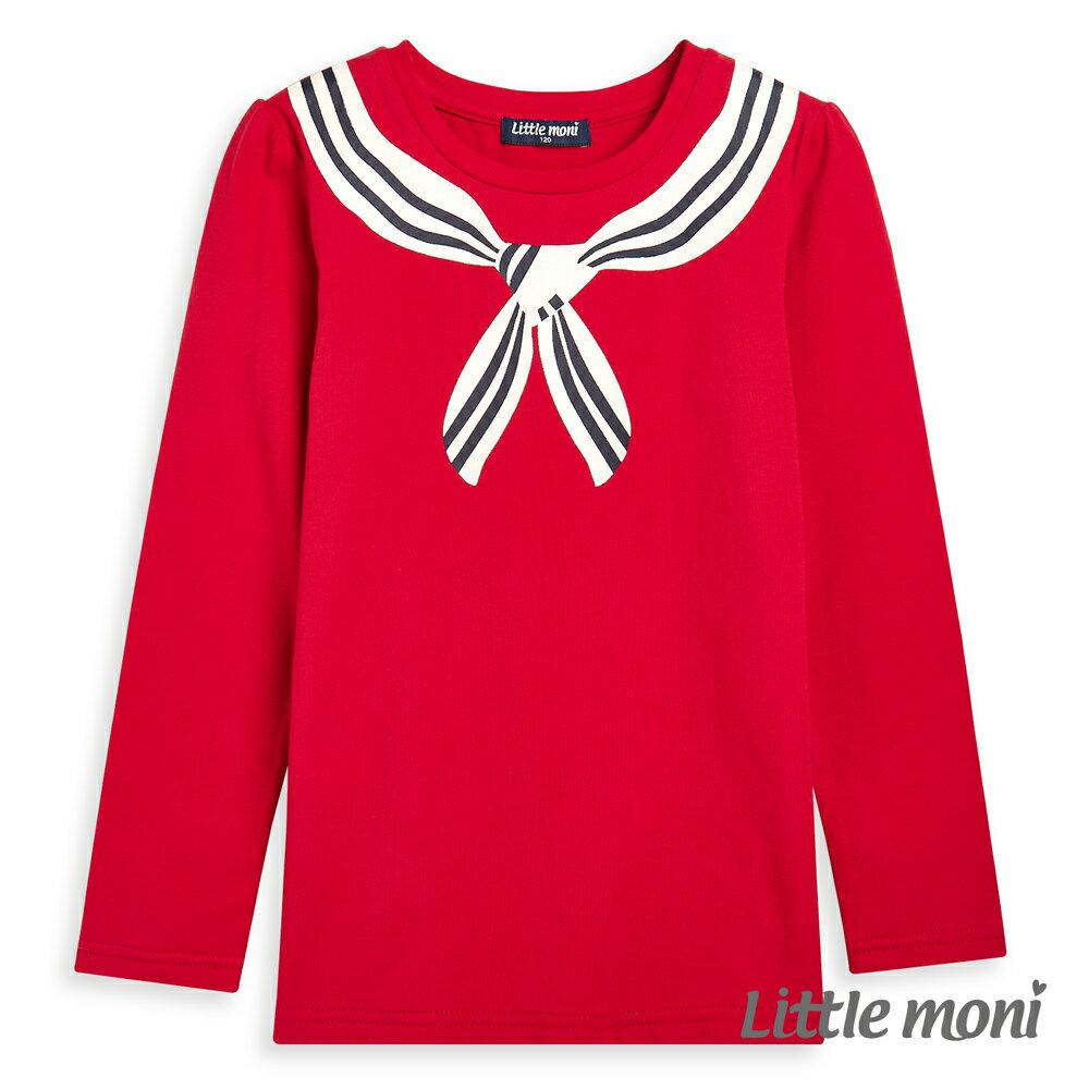 Little moni 學院風印圖上衣-紅色(好窩生活節) 1