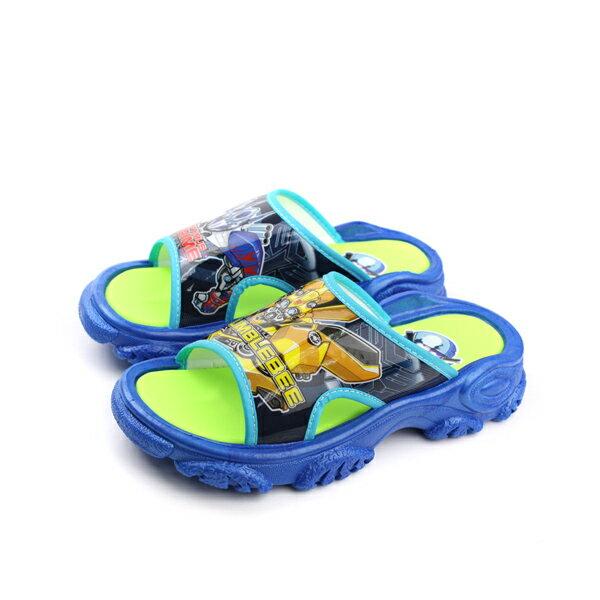 變形金鋼 TRANSFORMERS 大黃蜂 柯博文 拖鞋 好穿 防水 雨天 舒適 藍色 中