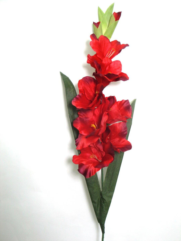 ★超低價★36吋 劍蘭-紅 / 人造花 空間 景觀 佈置 造景