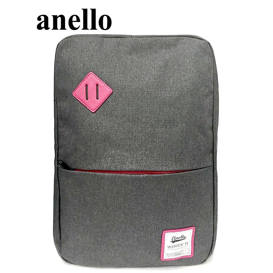 【momi宅便舖】anello 猪鼻子大開口後背包(銀灰) AU-A0135 AU-A0135
