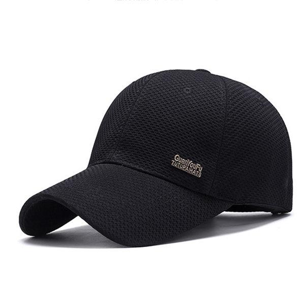 PS Mall 春夏網布棒球帽男 中年戶外遮陽帽子【G1006】 0