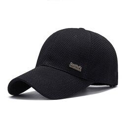 PS Mall 春夏網布棒球帽男 中年戶外遮陽帽子【G1006】