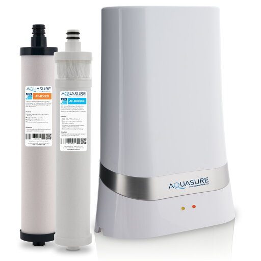 Aquasure Dash Series Countertop Drinking Water Filter System with 0.1 Micron Ultra-filtration (UF) + Microban Anti-microbial Technology